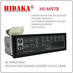 Wholesale 12V 24V AM FM Excavator Radio Radio control excavator with Bluetooth USB IP6X Din Size Multiband mp3 player radio from china suppliers