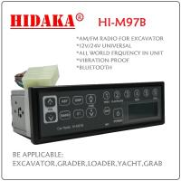 Wholesale 12V 24V AM FM Excavator Radio  with Bluetooth USB IP6X Din Size Radio control excavator from china suppliers