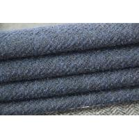 Quality 57 - 58cm Cotton Twill Woven Fabric , Dark Blue Flannel Twill Wool Fabric1000 Meters / Color for sale