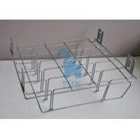 Grey Powder Coated Wire Retail Display Racks , Wire Hanging Rack For Supermarket