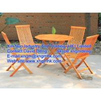Buy cheap Wooden outdoor furniture, wooden leisure furniture, wooden folding tables and chairs from wholesalers