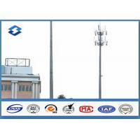 Wholesale Microwave Telecommunication electric service pole , Hot Roll Steel Q420 wireless communication towers from china suppliers