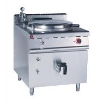 Quality JUSTA Gas Indirect Jacketed Boiling Pan Kitchen Equipments 150L Soup Cooker Machine for sale