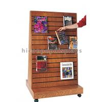 Wholesale 2 Way Function Slatwall Movable Magazine Display Stand Wooden Free Standing Display from china suppliers