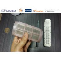 Quality Custom Injection Molded Polyamide Nylon PA 66 Plastic Filter with Nylon Mesh for sale
