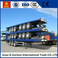 Quality 3 Axle Flat Bed Semi Trailer ,  Container Semi Trailer with Common Mechanical Suspension 10 for sale