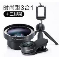 3 In 1 Camera Macro Lens Fixed Focus Lens Aluminium Alloy / Optical Glass