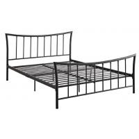 Quality Antique Iron Full Size Bed With Footboard & Headboard , Black Wrought Iron stably Double Bed for sale
