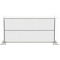 Wholesale horizontal Brace chain link temporary fencing panels 6 foot x 12 foot from china suppliers