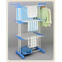 Wholesale 3 Tier Free Standing Clothes Drying Rack , Indoor / Outdoor Clothing Hanger Storage Rack from china suppliers