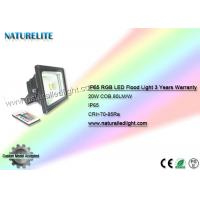 Wholesale 20W Remote Control RGB Led Flood Light IP65 3 Years Warranty for Entertainment Places, Stage, ect from china suppliers