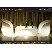 Wholesale Outdoor Plastic Led Bar Table Bright Colored Rechargeable Furniture With Light from china suppliers