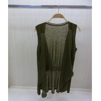 China Womens Fine Knit Sweaters Cashmere Asymmetric Poncho With sleeveless on sale