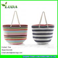 Wholesale LUDA colorful paper straw handbags striped extra large beach bags from china suppliers