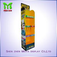 Quality New Advertising Colorful Printed 4-tiers Racks Candy  Snacks Cardboard Floor Display Stand for sale