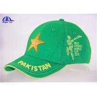 Wholesale 100% Cotton Embroidery Cricket Baseball Cap With Pakistan 3D Embroidery from china suppliers