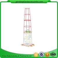 """Wholesale Large Tall Tomato Plant Stakes , Red Heavy Duty Tomato Cages size 14"""" in diameter x 66"""" H overall Fabric is imported from china suppliers"""