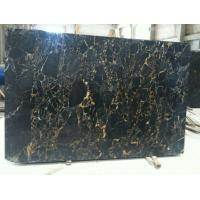 Wholesale 2015 the Best Quality Polished Black Gold Flower Marble Wall/Flooring Tile from china suppliers