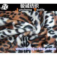 Wholesale Printed tiger stripes design warp knitting velboa fabric recycle polyester fabric for sofa from china suppliers