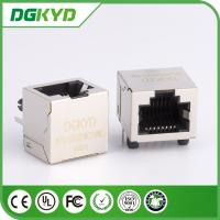 Wholesale 1x1 Right Angle 8p8c RJ45 shielded Connector without internal Transformer from china suppliers
