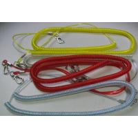 Wholesale 10M long fishing kayaks boats wire coil lanyard for rod good tackle leash spiral cords from china suppliers