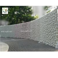 Wholesale UVG 2.4m curved big fake flower wall wedding backdrops in silk rose and hydrangea for sale from china suppliers