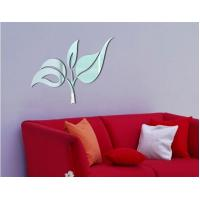 Wholesale Best selling flower shaped PS wall decal1MM thickness 3D mirror stickers home decoration from china suppliers
