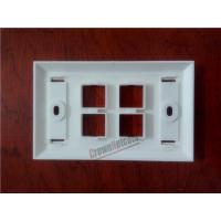 Quality 4Ports Network US Wall Plates  For RJ45 Keystone Jacks ABS Face Plate for sale