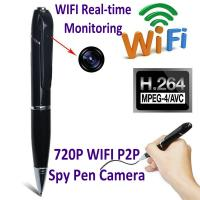 Wholesale 720P HD WIFI P2P Pen Spy Hidden Camera Covert Video Streaming Recorder Home Security Nanny Camera Remote Baby Monitor from china suppliers
