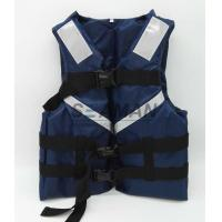 Wholesale 300D Oxford Navy Blue Men's Watersports Life Jacket SOLAS Reflective Tape Size S, M, L, XL from china suppliers