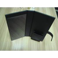 Wholesale Foldable Brown, black and blue PU paperback book cover, Hotel Information Folder from china suppliers