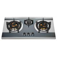 Wholesale Silver Stainless Steel LPG Gas Cooktop , 3 Burner Kitchen Gas Hob from china suppliers