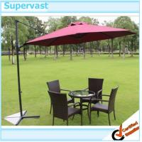 China Stainless Steel Easy Up Parasol Southern Patio Offset Umbrella for Poolside on sale
