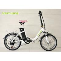 Wholesale Lady Style 20 Inch Wheel Foldable Electric Bike Aluminum Frame With Shimano Derailleur from china suppliers