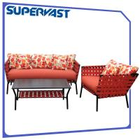 Wholesale Outdoor Furniture Patio Furniture Seating Sets Multi Color 4PC Steel Frame from china suppliers