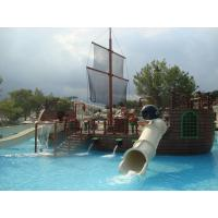 Wholesale Pirate Ship Water Playground Equipment White Water Slides For Water Park from china suppliers