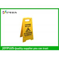 Wholesale Yellow Plastic Caution Sign Board / Portable Sign Stands Eco Friendly 62x30cm from china suppliers