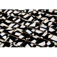 Wholesale Handmade Beautiful Seashell Mosaic Freshwater Shell Mosaic Mixed Black Surrounding 20x20mm from china suppliers
