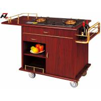 Wholesale Double Gas Stoves Flambe Trolley with Steel Side Condiment Shelf from china suppliers