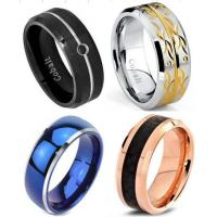 Buy cheap Tagor Jewelry Made Customize Plating Shiny Brushed Wedding Engagement Cobalt Chrome Rings from wholesalers