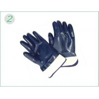 Wholesale XXL Heavy Duty Blue Nitrile Coated Industrial Protective Gloves With Knitted Wrist from china suppliers