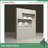 Quality Custom wooden showcase used for jewelry shop wall display furniture with lock for sale