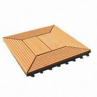 Quality Wood and plastic outdoor deck flooring, various designs are available for sale