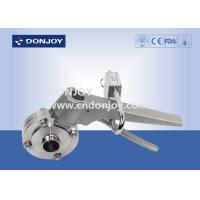 Buy cheap Manual Weld Sanitary Buttterfly Valves With Stainless Steel Lockable Multi Handle from wholesalers