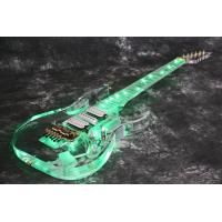 Wholesale New arrivel crystal electric guitar-acrylic electric guitar with best led light  Green color from china suppliers