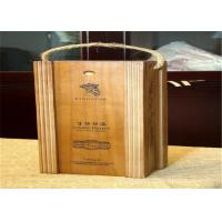 Wholesale Natural Wooden Wine Packaging Boxes Rectangular For Gifts Matt Lamination Urface from china suppliers