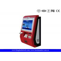 Wholesale Touch Screen Customized Wall Mount Kiosk With Metal Keypad And Cash acceptor from china suppliers