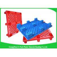 Quality Anti - Slip Industrial HDPE Nestable Plastic Pallets With Durable Solid Deck for sale