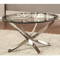 Wholesale Small Adjustable Height Glass Top High Table Modern Chrome Tube For Home from china suppliers