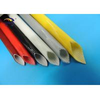 Quality OEM Insulation Silicone Fiberglass Sleeving / Silicon Fiber-glasss Sleeves with UL RoHS for sale